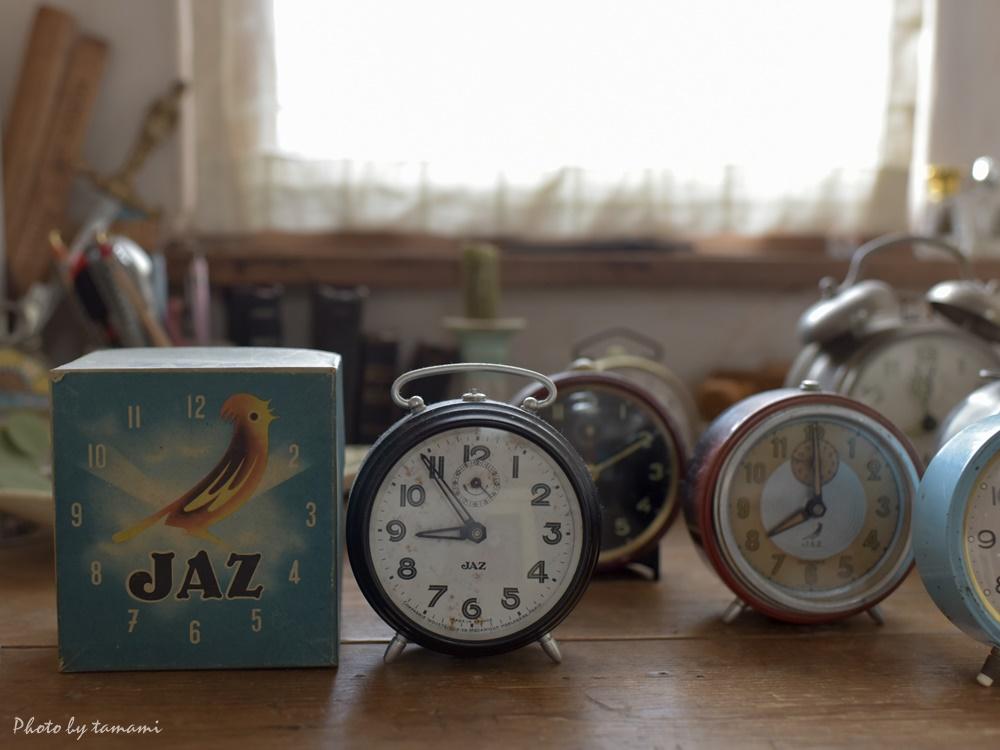 アンティークのJAZ時計