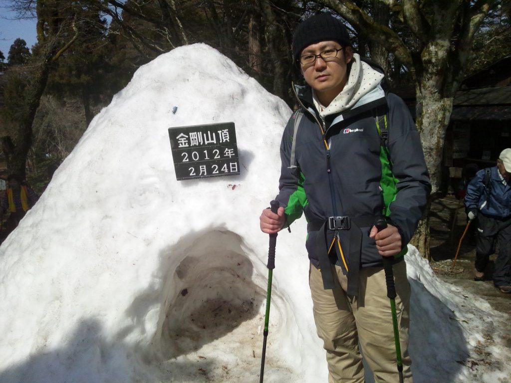 2012年、こうたろさん趣味の登山の様子